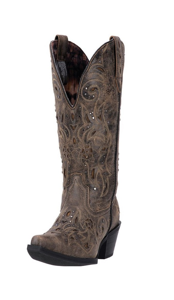Laredo Western Boots Womens Brown Scandalous Snip Toe Distressed Brown Womens 52050 e0c63c