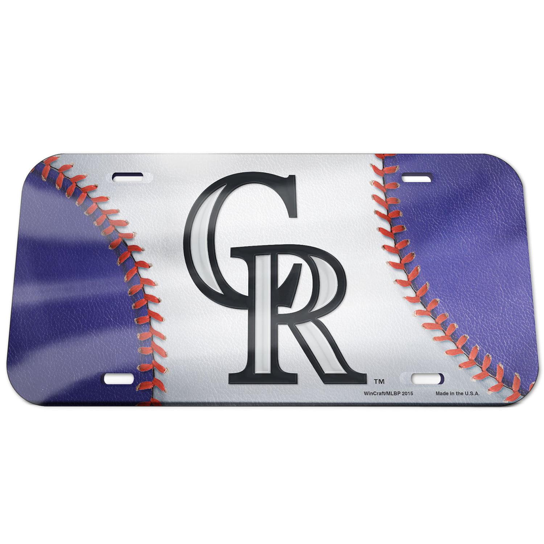 Colorado Rockies WinCraft Ball Crystal Mirror License Plate - No Size