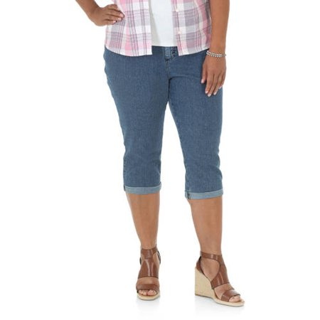 Dockers Capri Pants (Women's Plus Simply Comfort Roll Cuff Capri)