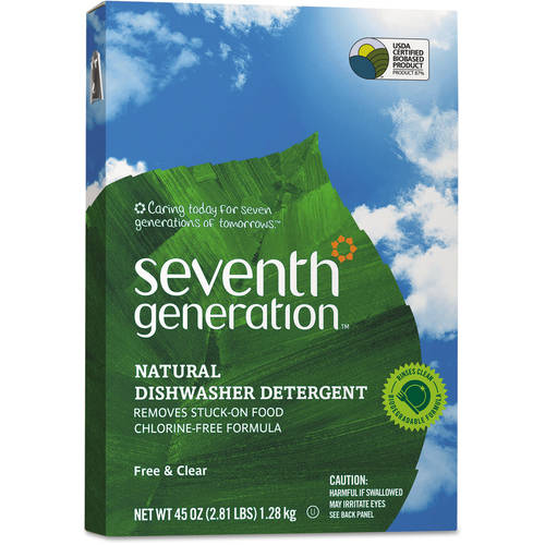 Seventh Generation Auto Dish Powder , Free & Clear, 45 oz