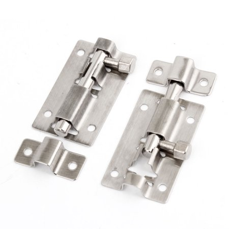 """2.5"""" Stainless Steel Drawer Cabinet Lock Security Latch  Bolt 2 Sets"""