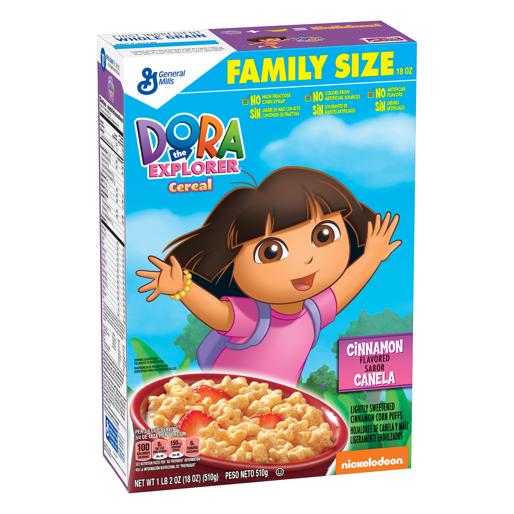 Dora The Explorer Breakfast Cereal, 18 oz Box
