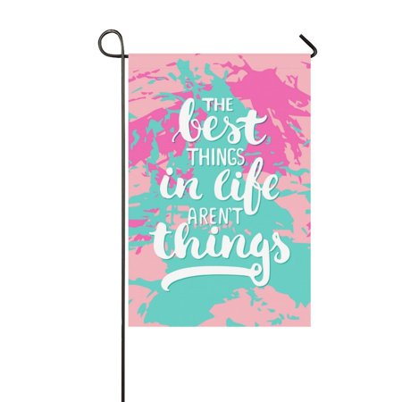MKHERT The Best Things Garden Flag Banner Decorative Flag for Wedding Party Yard Home Outdoor Decor 12x18
