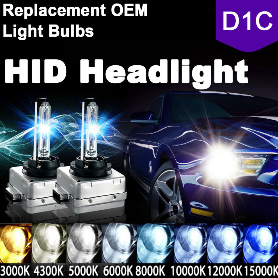 *D1S HID Xenon Bulbs OEM Direct Replacement PAIR 4300k 6000k 8000k White Blue