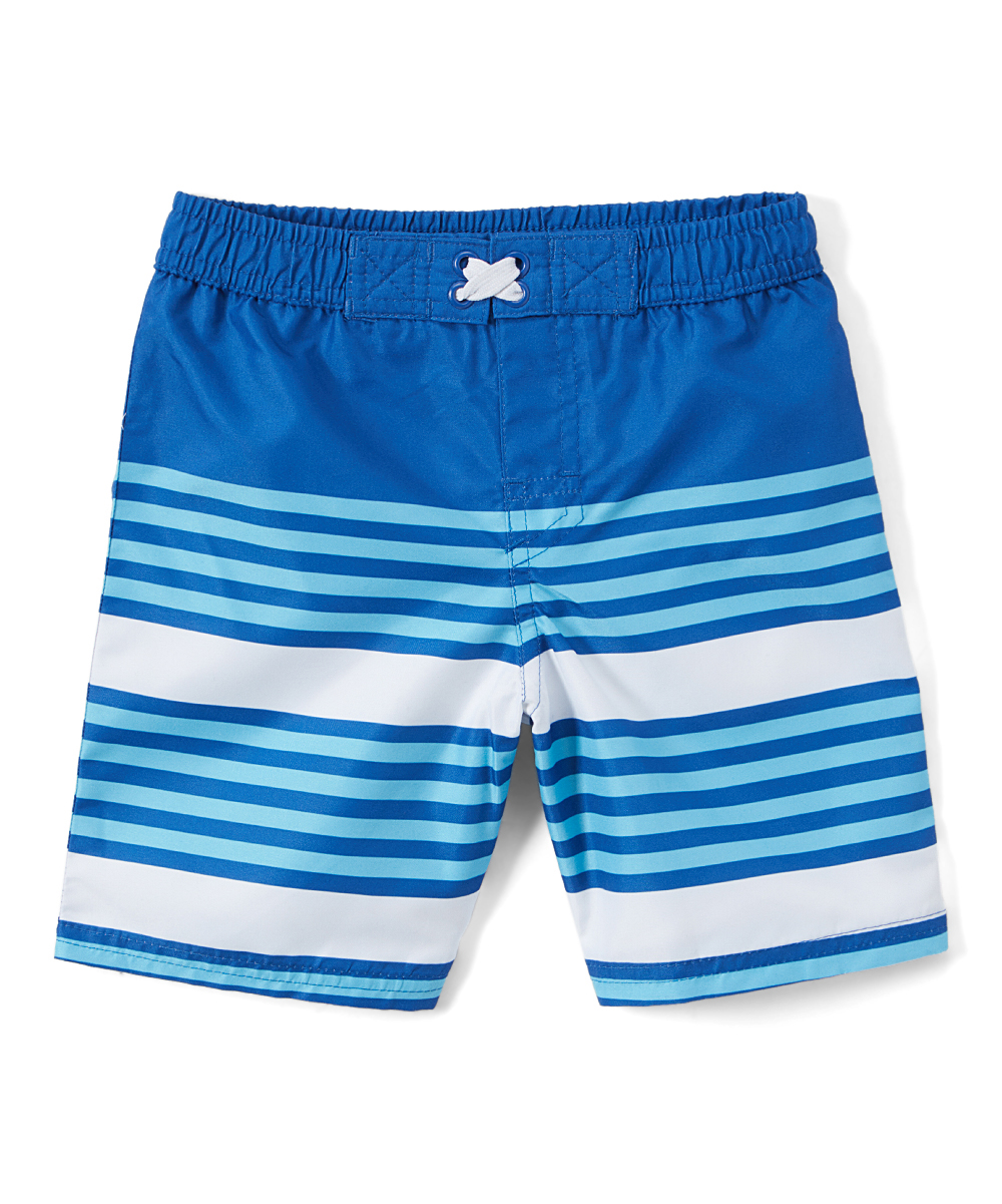 Blue Striped Swim Trunk (Toddler and Infant Boys)