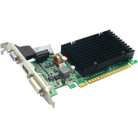 - EVGA 01G-P3-1313-KR GeForce 210 Graphic Card - 520 MHz Core - 1 GB DDR3 SDRAM - PCI Express 2.0 x16 - 1200 MHz Memory Clock - 64 bit Bus Width - 2560 x 1600 - DirectX 10.1, OpenGL 3.1, OpenCL - 1 x HD