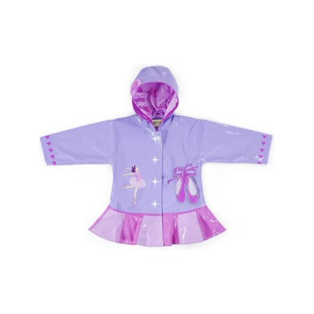 - Kidorable Little Girls Lilac Pink Ballerina Hooded Rain Coat 2T-6X
