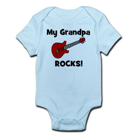 Cafepress   My Grandpa Rocks   Guitar  Infant Bodysuit   Baby Light Bodysuit