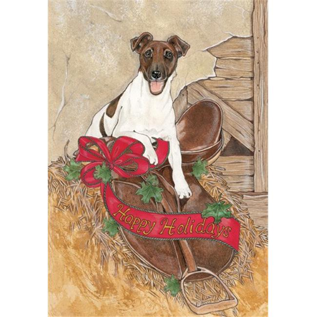 Pipsqueak Productions C982 Holiday Boxed Cards- Fox Terrier Smooth