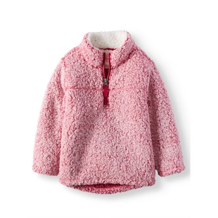 32415a66d Mock Neck Quarter Zip Boucle Lined Sherpa Jacket (Toddler Girls)