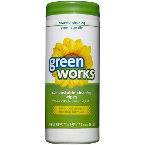 Green Works Original Compostable Cleaning Wipes, 30 count