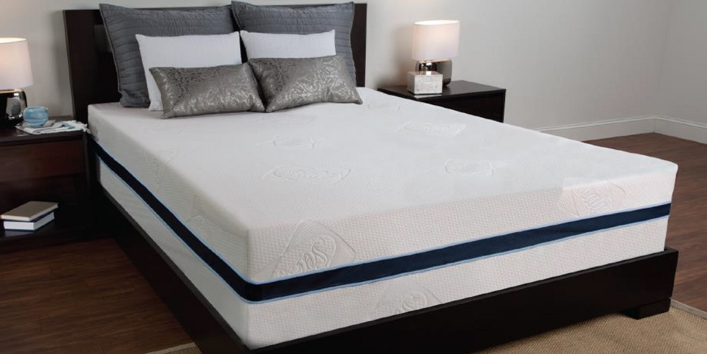 "Sealy 12"" 3 lb Density Memory Foam Bed Mattress w  Removable Cover (Twin) by Sealy"