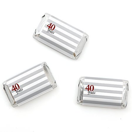 We Still Do - 40th Wedding Anniversary - Mini Candy Bar Wrappers Party Favors - 20 Count - 40th Anniversary Party Ideas