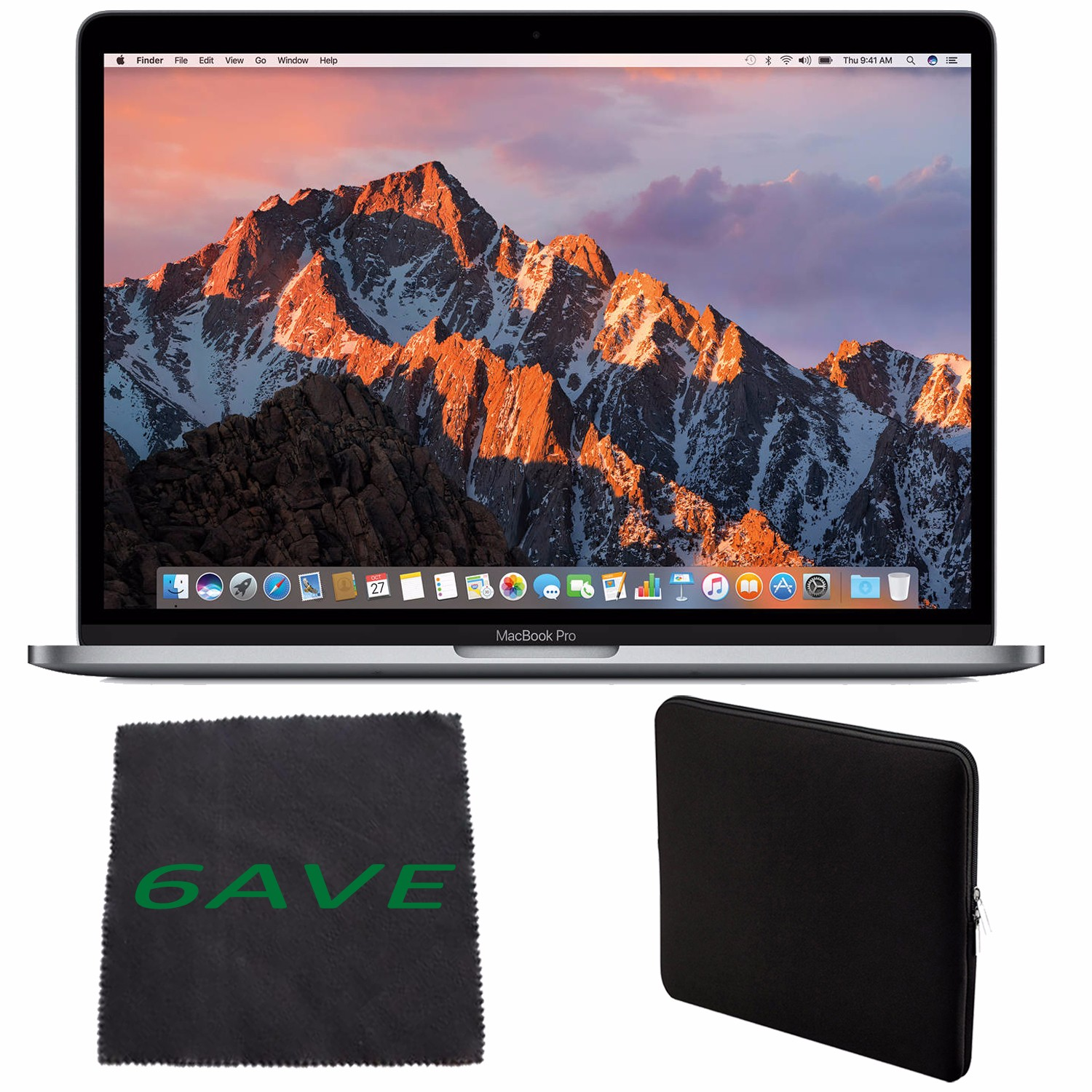 Apple MacBook Pro MNQF2LL/A 13-inch Laptop with Touch Bar (2.9GHz dual-core Intel Core i5, 512GB Retina Display), Space Gray Spanish Keyboard + Padded Case For Macbook + MicroFiber Cloth Bundle