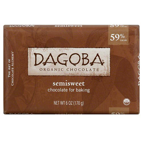 Dagoba Semisweet Baking Chocolate, 6 oz, (Pack of 10) by Generic