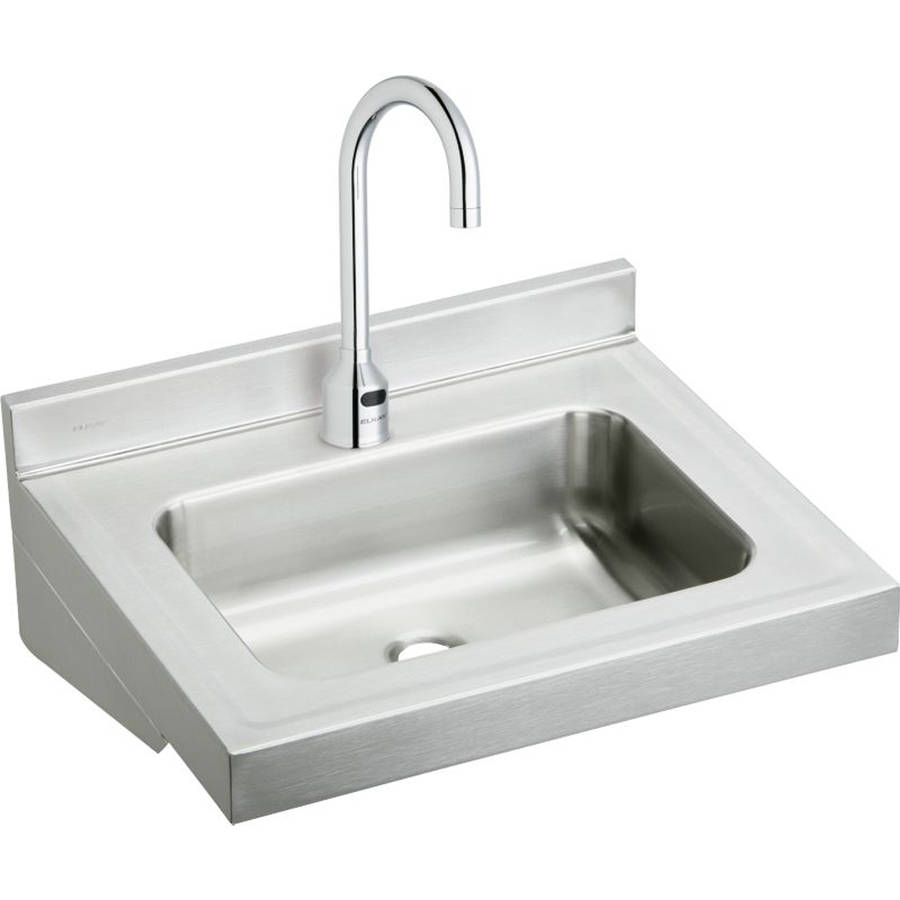 Elkay ELV2219SACMC Commercial Lavatory Sink Package with Single Faucet Hole