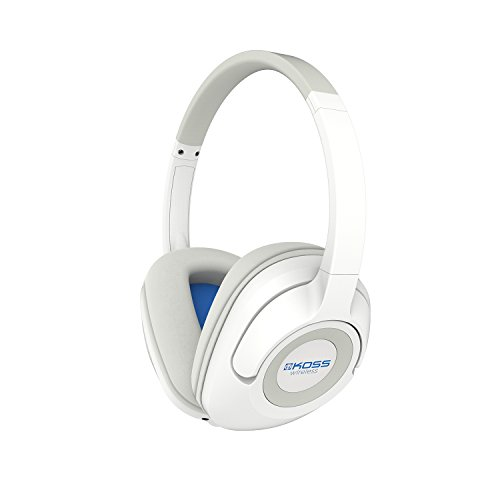Koss BT539iW Wireless Bluetooth Over-Ear Headphones, Mic ,Volume Control White by Koss