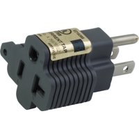 AC WORKS [M515520] 15 Amp to 20Amp T-Blade Adapter UL,C-UL Approval - 25PCS/PK
