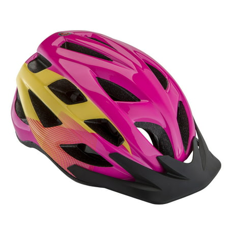 Schwinn Breeze Youth Helmet, ages 8 and up, pink, magenta, yellow, bicycling