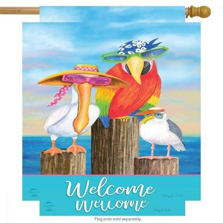 Briarwood Lane Coastal Bird Welcome Summer House Flag Nautical Pelican... Briarwood Lane Coastal Bird Welcome Summer House Flag Nautical Pelican...  condition: New Package Dimensions: 11 x 7 x 0.8 inchesItem Weight: 4.8 ouncesManufacturer: Briarwood LaneBrand: Briarwood LaneMPN: NA