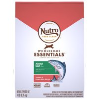 NUTRO WHOLESOME ESSENTIALS Natural Dry Cat Food, Adult Cat Salmon and Brown Rice Recipe, 14 lb. Bag