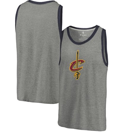 03640394f259 Cleveland Cavaliers Fanatics Branded Primary Logo Tri-Blend Tank Top -  Heathered Gray