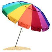 EasyGO 8 Foot HEAVY DUTY HIGH WIND Beach Umbrella - Giant 8' Beach