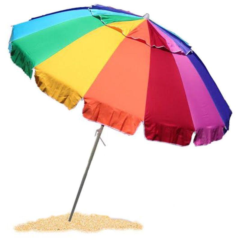 EasyGo Giant 8' Rainbow Beach Umbrella