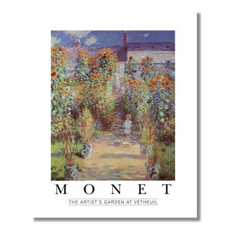 The Artist�s Garden at Vetheuil Claude Monet Wall Picture 8x10 Art Print ()