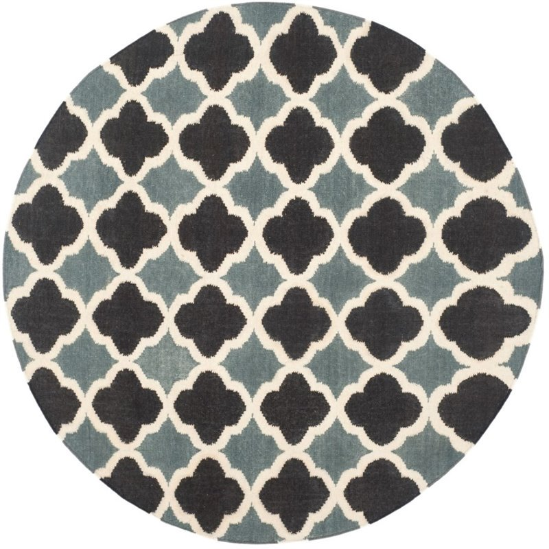 Safavieh Dhurries 4' X 6' Hand Woven Flat Weave Wool Rug - image 1 of 8