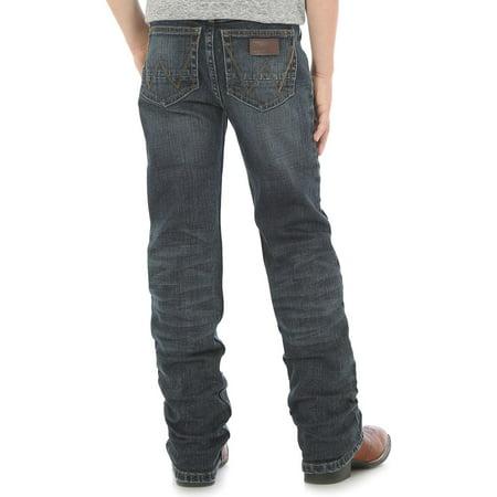 wrangler boys retro slim fit straight leg jean, twin bridges, 4 reg