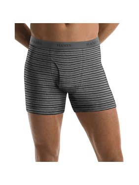b91fcbdbf761 Product Image Hanes Men's TAGLESS® Ultimate Fashion Stripe Boxer Briefs  with Comfort Flex® Waistband 5-