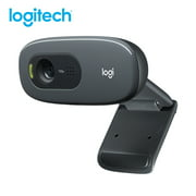 Logitech C270 HD Webcam 720P Video Card Webcam 720P Optical Lens Noise Reduction Micophone USB2.0 Plug And Play Mini Computer Camera for PC Laptop
