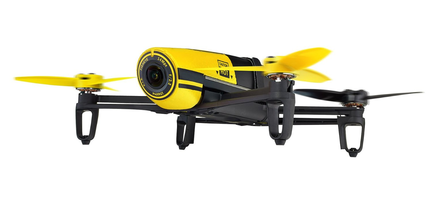 Parrot BeBop Drone 14 MP Full HD 1080p Fisheye Camera Quadcopter Yellow