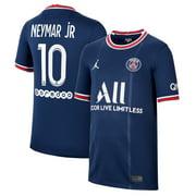 Neymar Jr. Paris Saint-Germain Jordan Brand Youth 2021/22 Home Breathe Stadium Replica Player Jersey - Blue