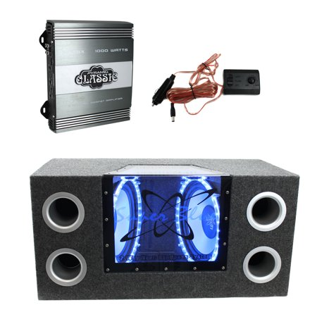 - Pyramid 10 In 1000W Subwoofer Bandpass System + PB715X 1000W 2-Channel Amplifier