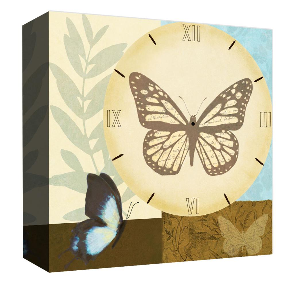 PTM Images,Butterfly Clock, 20x20, Decorative Canvas Wall Art ...