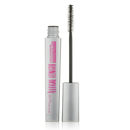 3d15799788a Maybelline Illegal Length Fiber Extensions Waterproof Mascara, 0.22 Oz -  Walmart.com