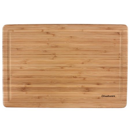 "Freshware Bamboo Cutting Board, Extra-Large, 12"" x 18"", BC-200XL"