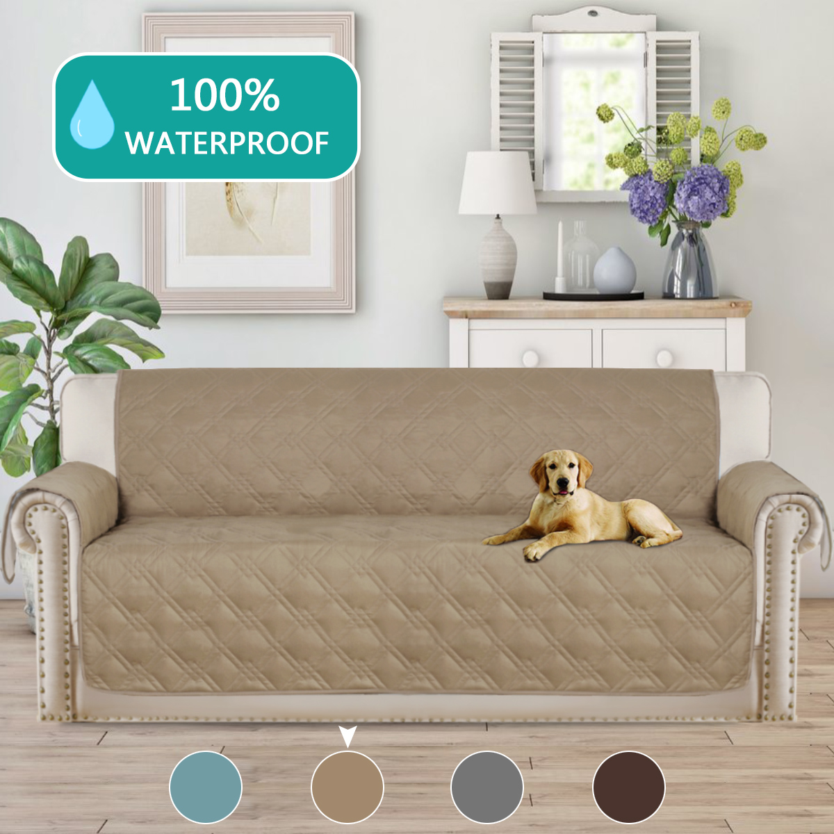 100% Waterproof Sofa Slipcovers Super Soft Furniture Protector Features To  Prevent Stains / Protect From Pets, Spills, Wear And Tear(Oversize Sofa ...