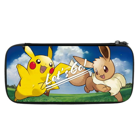 HORI Nintendo Switch Let's Go Pikachu/Eevee Pouch Case Officially Licensed By Nintendo & Pokemon for Nintendo (Hori Hard Pouch)