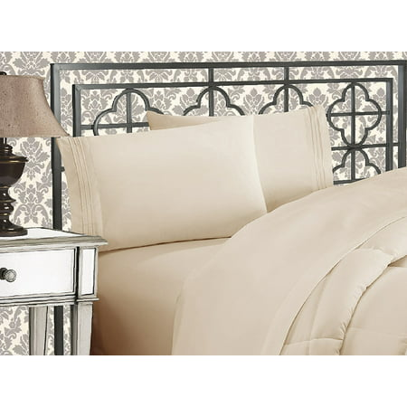 Elegant Comfort? 1500 Thread Count Egyptian Quality 2pcs PILLOW CASES - ALL SIZES AND COLORS, Queen, Beige - image 2 de 2