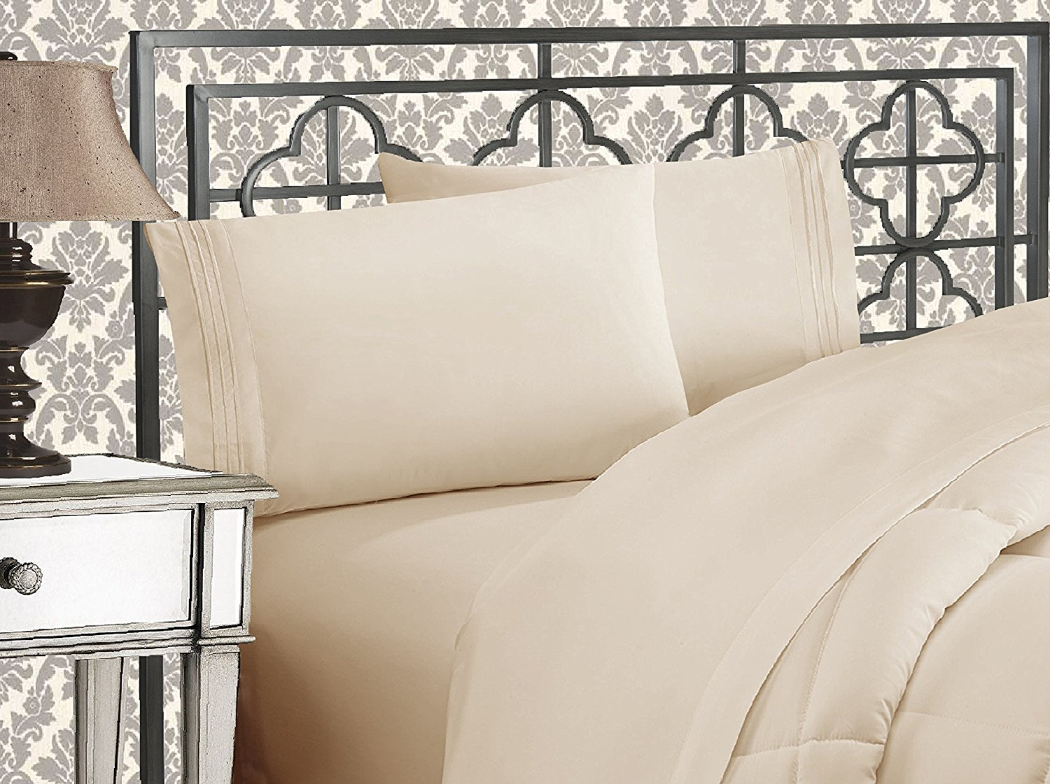 Charming Elegant Comfort® Silky Soft 1800 Series   Wrinkle Free 4 Piece Bed