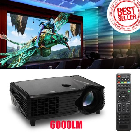 Portable Lcd Led Projector 800 480 2000 Lumen Hd Home Theater With Hdmi Vga Av Usb Input