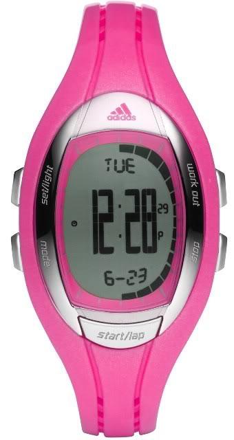 Adidas ADP3072 Lahar Women's Pink Nylon Bracelet with Digital Watch New In Box by Adidas