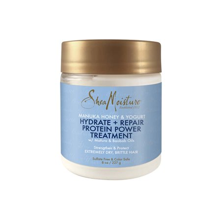 SheaMoisture Protein Strong Treatment to Hydrate & Repair Hair Manuka Honey & Yogurt 8 (Scinic Honey All In One Ampoule Ingredients)
