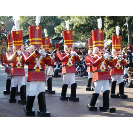 LAMINATED POSTER Disney Toy Christmas Soldier Parade Magic Kingdom Poster 24x16 Decal