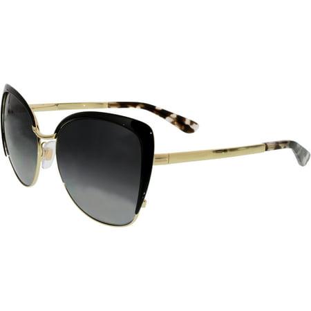 f3ec5813d34a Dolce   Gabbana - Women s Polarized DG2143-488 T3-57 Gold Cat Eye Sunglasses  - Walmart.com