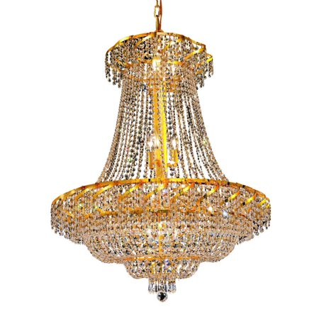 Belenus 18 Light Crystal (Clear) Chandelier in Gold Finish - Belenus 18 Light