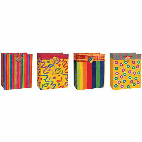 "Burst of Color Gift Bags Assortment, 12.5"" x 10.5"""